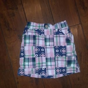Gymboree girls Madras Plaid Skirt w/shorts Skort 6